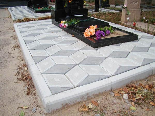 Укладка плитки на кладбище цены купить памятник на могилу недорого бахмут